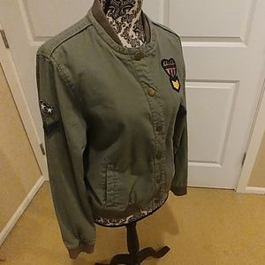 BETHANY MOTA - Military Style Cotton Jacket Sz XL